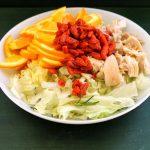 Pollo con arance e bacche di Goji